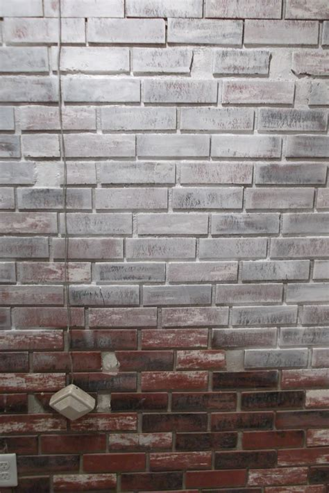 faux brick wall painting here is the wall after a of hours with a brush and