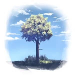 a tree painting anime tree