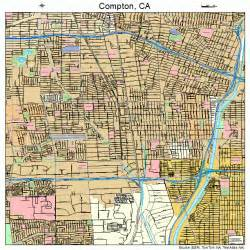 where is compton california on a map compton california map 0615044