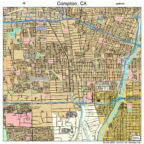 compton map compton california street map 0615044