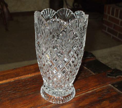 Pressed Glass Vases by Vase Pressed Glass Pineapple Design Scalloped Eapg