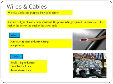types of electrical wires and their uses pdf wires cables