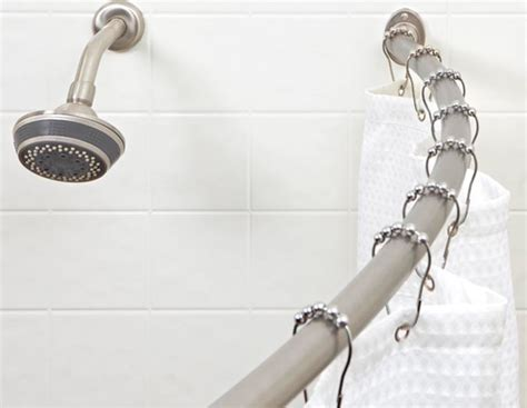 bath bliss curved shower rod bath bliss curved shower curtain rod
