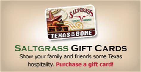 Saltgrass Steakhouse Gift Card - saltgrass gift card lamoureph blog