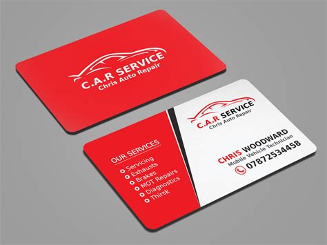 Phlet Card Design Templates by Mechanic Business Cards Entry 41 Mahmudkhan44 For Design