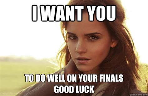 Good Luck On Finals Meme - i want you to study right now emma watson tease