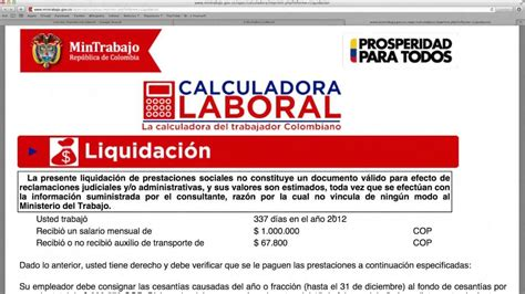 calculo de liquidaci 243 n y prestaciones laborales en excel calculadora de liquidacion laboral argentina calcular