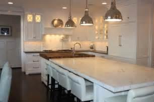Square Kitchen Island by 2 Tone Kitchen Contemporary Kitchen Kelly Deck Design