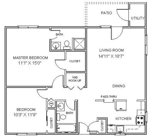 2 Bedroom Apartment Design Layouts 2 Bedroom Small Apartment Layout Architecture And Design