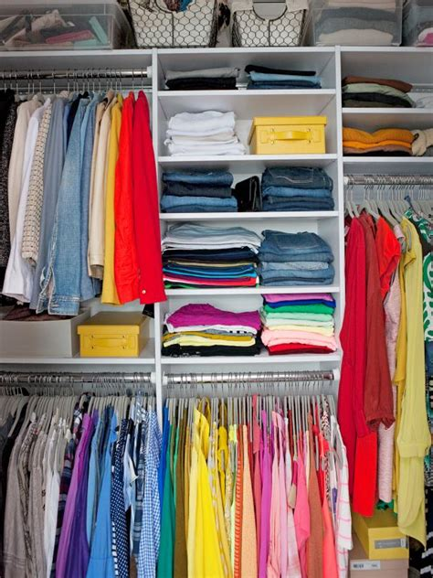 Organize Closet By Color by Top 10 Organizing Tips You Need To Try Hgtv