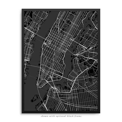 map of new york city framed new york city new york poster city map decor