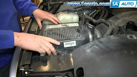 2003 Silverado Cabin Air Filter by How To Install Replace Engine Air Filter 2000 06 Chevy