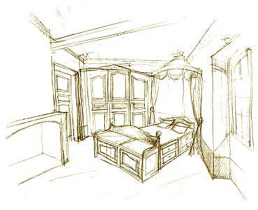 dessin d une chambre croquis esquisse dessin d une chambre