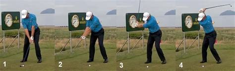 ernie els iron swing hand release actions through the impact zone