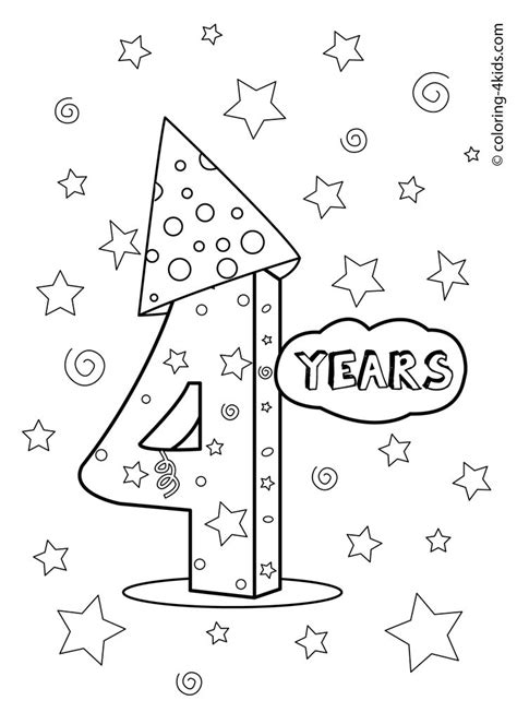 birthday coloring pages for 4 year olds 20 best images about birthday coloring pages on pinterest