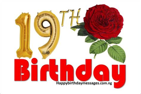 Happy 19th Birthday Quotes Happy 19th Birthday Wishes Greetings And Quotes Happy