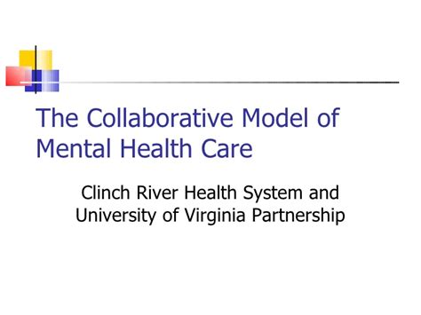 health partnership telepsychiatry the of virginia and clinch