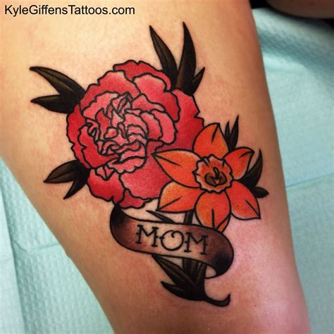 different flower tattoos no daffodil different color everything carnation