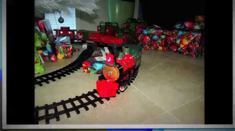 photo s of the north pole express train set around the