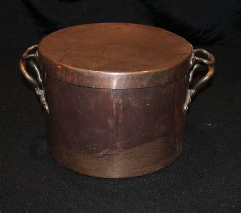 antique copper antique copper pot bowl lidded pan ebay