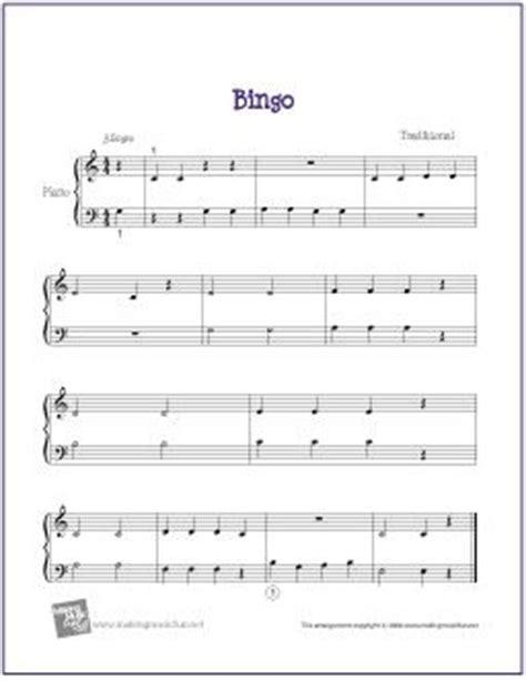 banana boat jingle lyrics bingo free sheet music for easy piano http