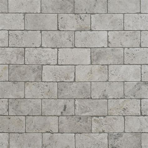 Tumbled Marble Tile Silver Shadow Tumbled Marble Tiles 7 6 X 15 2
