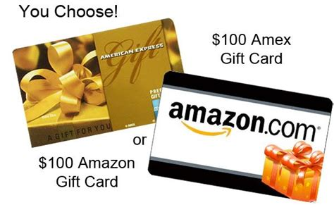 Amazon Amex Gift Card - flash 100 amex or amazon gift card giveaway your choice ends 1 4