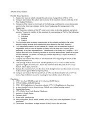 Apush Dbq Outline by Dbq Essay Outline