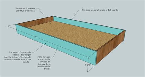 how to build a trundle bed isau wood trundle bed plans