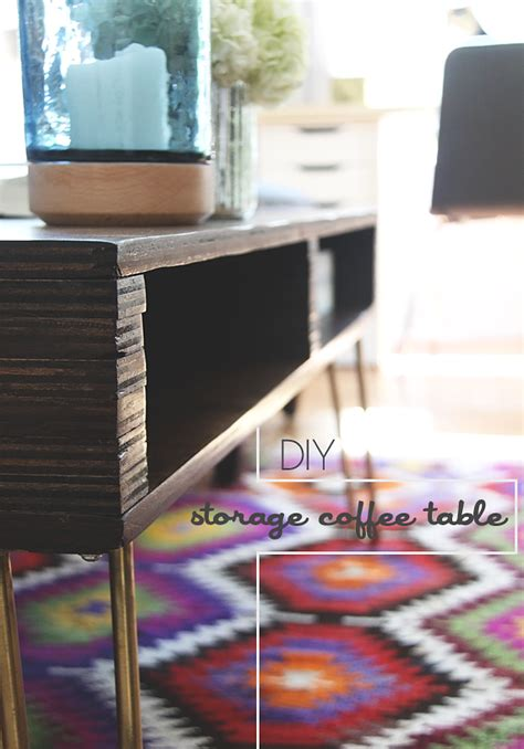diy coffee table with storage diy storage coffee table jade and fern