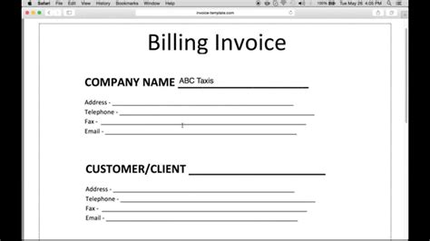 how to make an invoice template how to make a billing invoice excel pdf word
