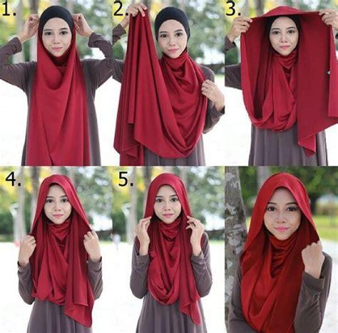 tutorial jilbab pashmina satin yang simple easy hijab style steps tutorial hijabiworld