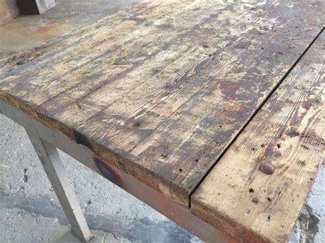 houten tafelblad opknappen werktafel opknappen tot eettafel