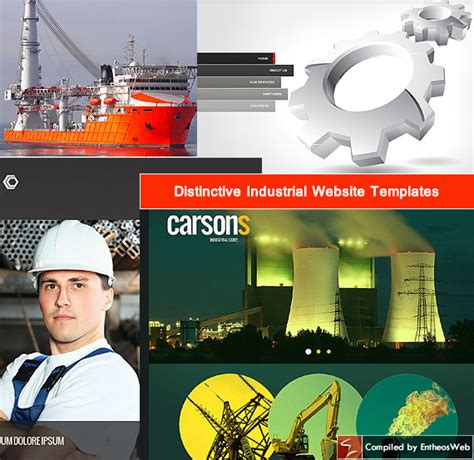 industrial template distinctive industrial website templates entheos