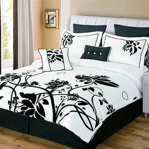 chelsea black white 8 piece comforter set contemporary