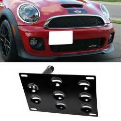 front bumper tow hook license plate mount bracket holder