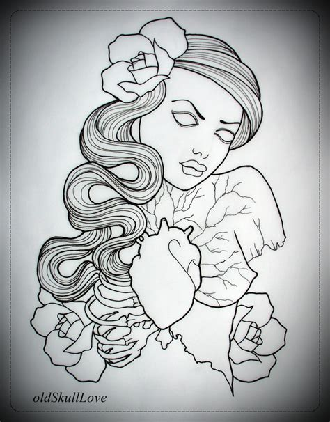 hot tattoo outlines sexy pinup tattoo design hot girls wallpaper
