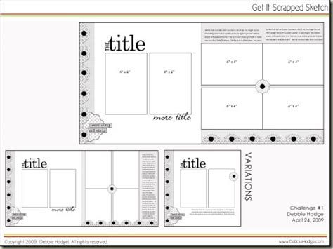 layout template gis scrapbook page sketch and template bundle april 24 2009