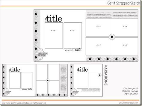 scrapbook layout pdf scrapbook page sketch and template bundle april 24 2009