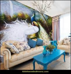 Peacock Wall Mural Decorating Theme Bedrooms Maries Manor Peacock Theme