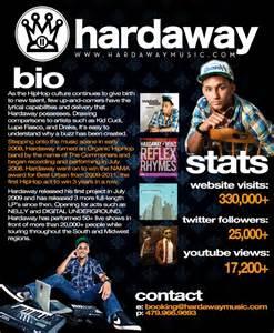 Rap Artist Bio Template by Harris Hardaway Michee Biography