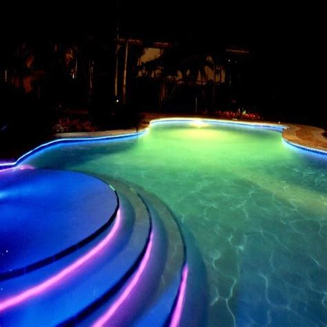 fiber optic pool lighting installation fiber optic pool lights inground 8mm solid side glow