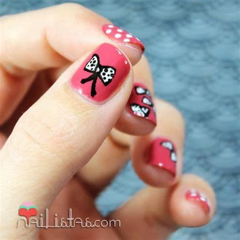 imagenes uñas cortas decoradas u 241 as decoradas con lacitos nail art paperblog