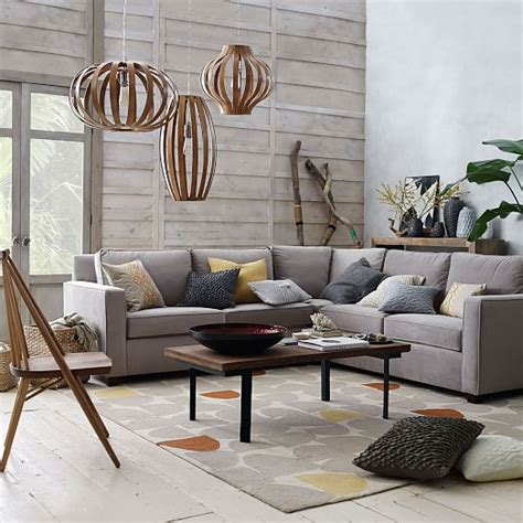 henry 174 3 piece l shaped sectional west elm