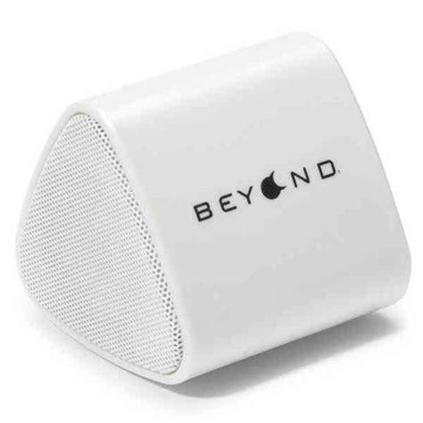 Promo Heset Bluetooth Hs503 Logo Blackberry white triangular shaped bluetooth speaker item 70251 imprintitems custom printed