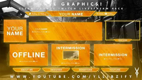free graphics twitch hitbox livestream template pack