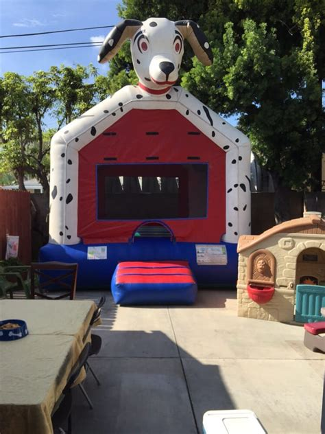 dalmatian bounce house was so for our paw patrol