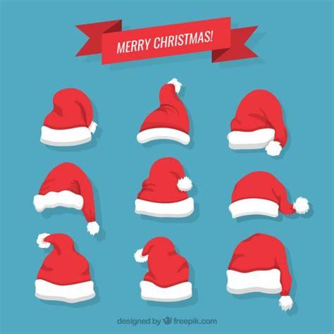 imagenes de gorros de santa claus gorros de navidad santa claus descargar vectores gratis