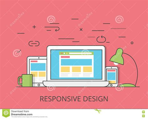 responsive layout design software lineart flat software responsive web design vector cartoon