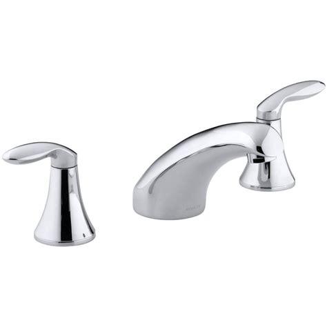 kohler coralais 2 handle roman tub faucet in polished